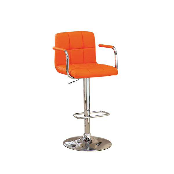 Corfu Contemporary Bar Stool With Arm In Orange - BM131407