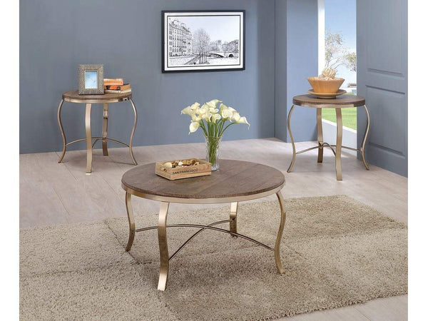 BM131436 Wicklow Transitional 3 PIECE TABLE SET, CHAMPAGNE