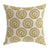 BM131624 -FIFI Contemporary Big Pillow With pattern Fabric, Yellow Finish, Set of 2