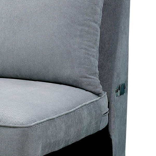 BM131761 Skyler II Traditional Armless Chair, Gray Finish