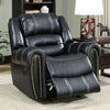 Frederick Transitional Glider Recliner Single Chair, Black Finish - BM131820
