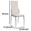 Kalawao Contemporary Side Chair, White Finish, Set of 2 - BM131829