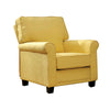 Belem Transitional Single Chair With Yellow Flax Fabric - BM131849