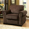 BM131895 Rydel Transitional Single Chair, Brown