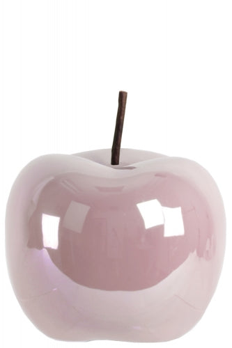 Ceramic Apple Figurine- Large- Pink- Benzara