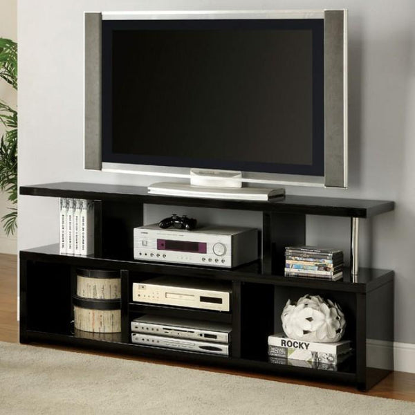 BM137598 Evere Elegant 60' Tv Console Contemporary Style, Black