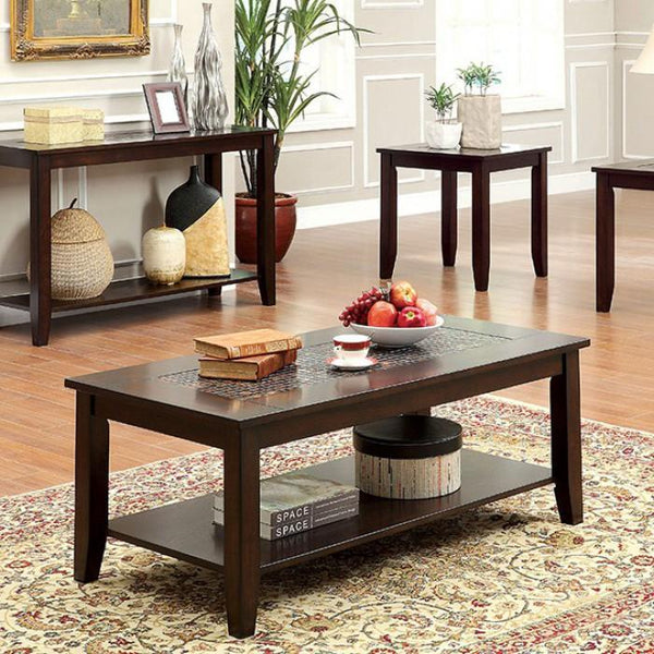 BM138027 Townsend III Kivaha Coffee Table, Dark Cherry, Set Of 3