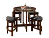 Crystal Cove I Quaint Virile 5 Piece Counter Height Table Set, Dark Walnut - BM138063