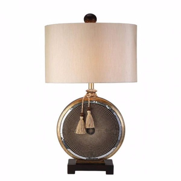 BM141693 Darcey Mosaic Design Table Lamp, Brown
