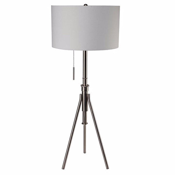BM141703 Zaya Contemporary Style Floor Lamp, Brushed Steel