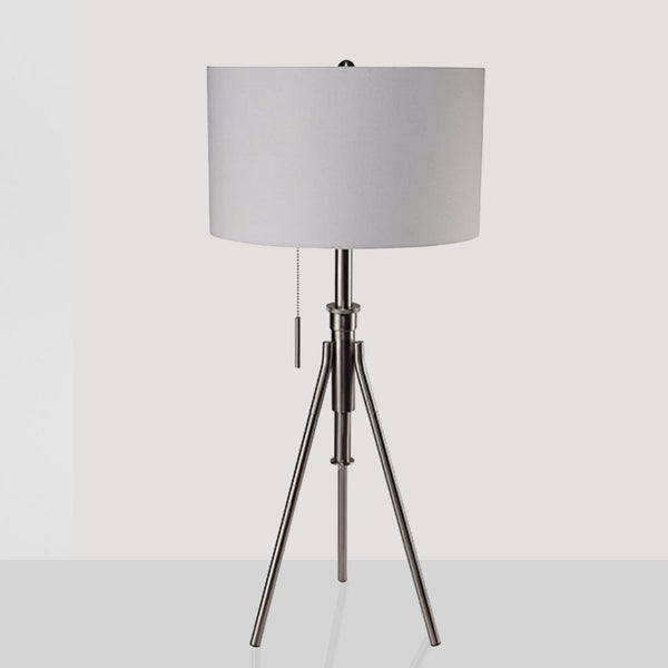 BM141705 Zaya Contemporary Table Lamp, Brushed Steel