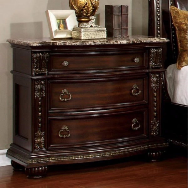 Fromberg Traditional Style Night Stand, Brown Cherry - BM141778