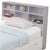 Wooden Full Size Bookcase Headboard with 6 Open Shelves, White - BM141867