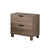 BM141888 Urbane Brown Finish Nightstand With 2 Drawers On Metal Glides