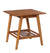 Wooden End table with Angled Legs and Open Shelf Storage, Brown - BM144305