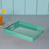 Mimosa Square Tray With Cutout Handles, Green - BM145601