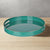 Mimosa Round Tray With Cutout Handles, Green - BM145602