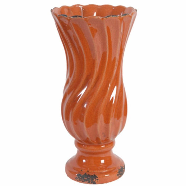 BM145688 Cora Waves Floral Vase, Orange