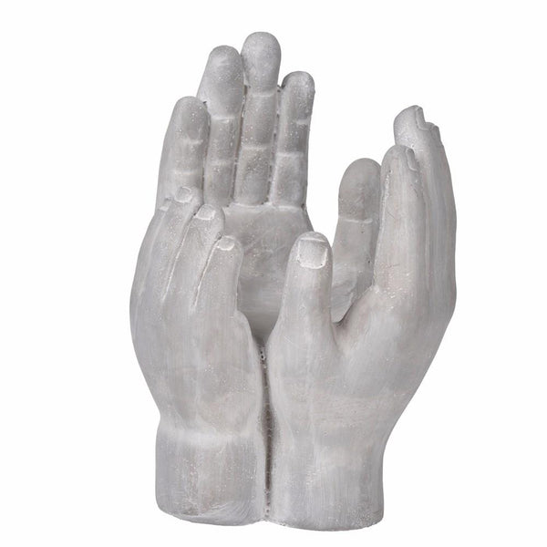 BM145708 Accepting Hands Accent In Cement,Gray