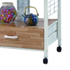 BM148283 Commodious Kitchen Shelf On Casters, White