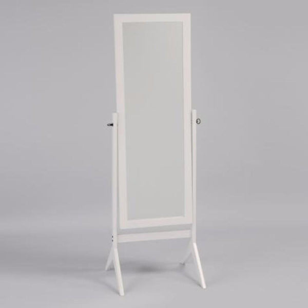 BM148294 Contemporary Style Wooden Cheval Mirror, White