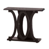 Stylish Console Table With Base Shelf, Dark Brown - BM148762