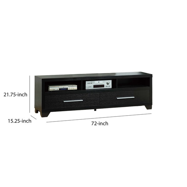 BM148782 Contemporary Style TV Stand With 3 Open Shelves