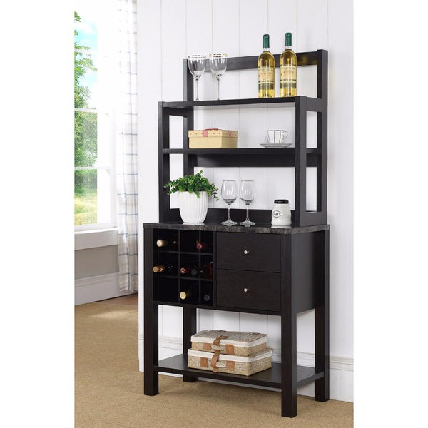 Well- Designed Efficient Baker's Rack, Dark Brown - BM148795