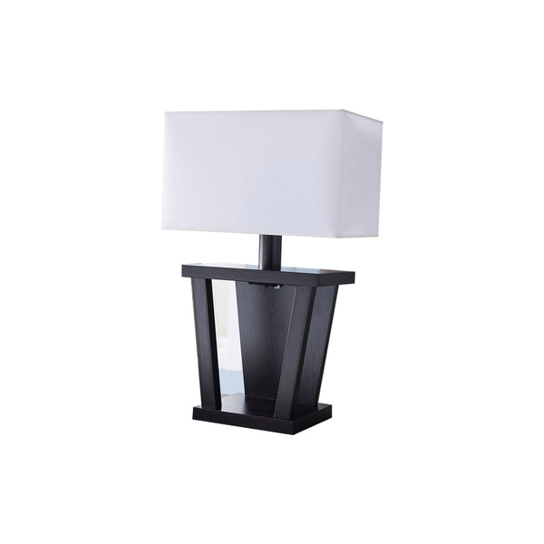 BM148836 Contemporary Style Sturdy Table Lamp, Dark Brown