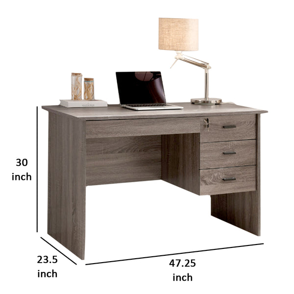 Adorning Contemporary Style Office Desk , Gray - BM148857