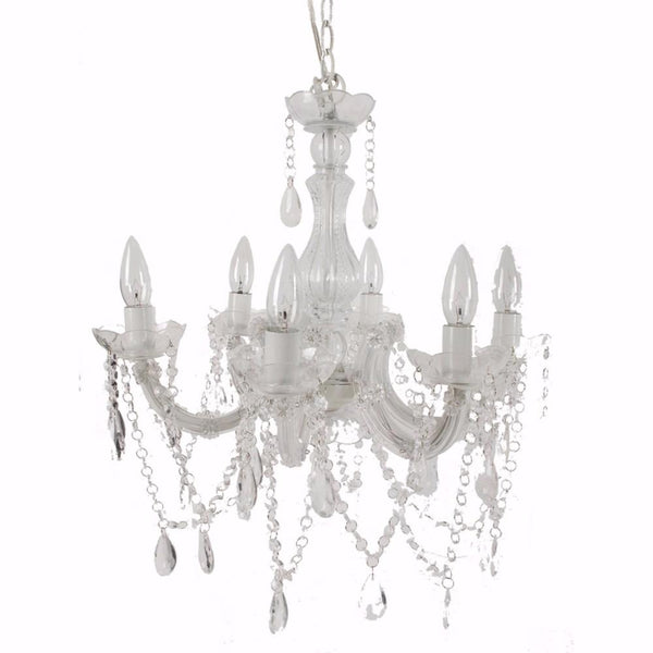 BM149399 Alluringly Captive Winter Blanche Beaded Chandelier