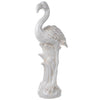 BM152694 Beautiful Standing Flamingo Statuette, White
