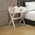 1 Drawer Wooden End Table with X Shaped Legs and Metal Brackets, White - BM154580