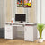 BM156220 Elegant white Computer desk with efficient Storage