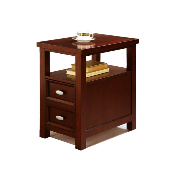 BM157881 Spacious Chairside Table, Brown