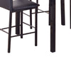 5-Piece Counter Height Dinette, Black/Brown - BM157888