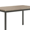 BM160786 Contemporary Metal Dining Table With Wooden Top, Gray & Black