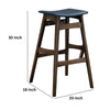 Mid-Century Modern Angled Bar Stool, Brown And Gray ,Set of 2 - BM160810