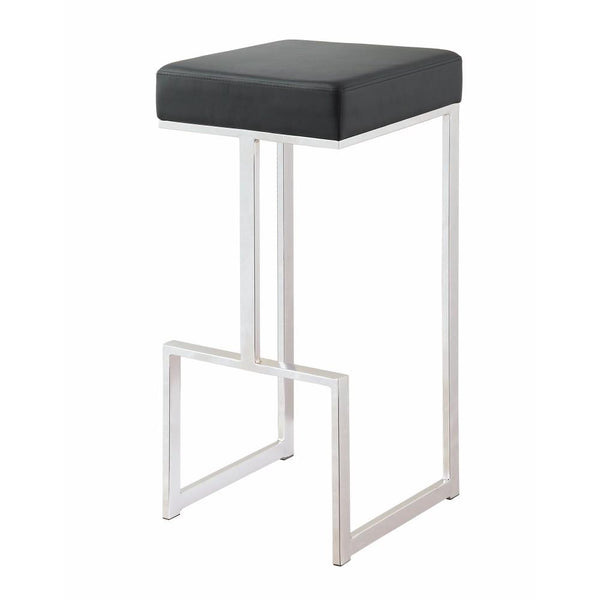 BM163693 Metal Counter Height Stool, Black
