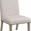 Rolled Back Parson Dining Chair, Beige, Set of 2 - BM163804