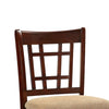 Wooden Counter Height Chair, Dark Brown & Cream, Set of 2 - BM166589