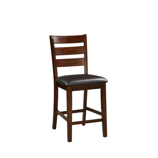 BM166592 Wooden Counter Height Armless Chair, Walnut brown, Set of 2