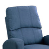Swivel Recliner Chair In Navy Polyfiber Fabric Blue - BM166610