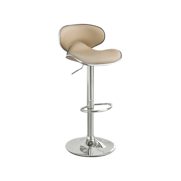 BM166624 Modish Bar Stool With Gas Lift Brown And Silver Set of 2