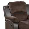 BM166725 Polyurethane Rocker Recliner In Choco Suede Brown