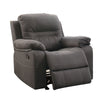 BM166726 Leatherette Rocker Recliner In Gray