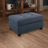 BM166752 Cocktail Ottoman In Blue Dorris Fabric