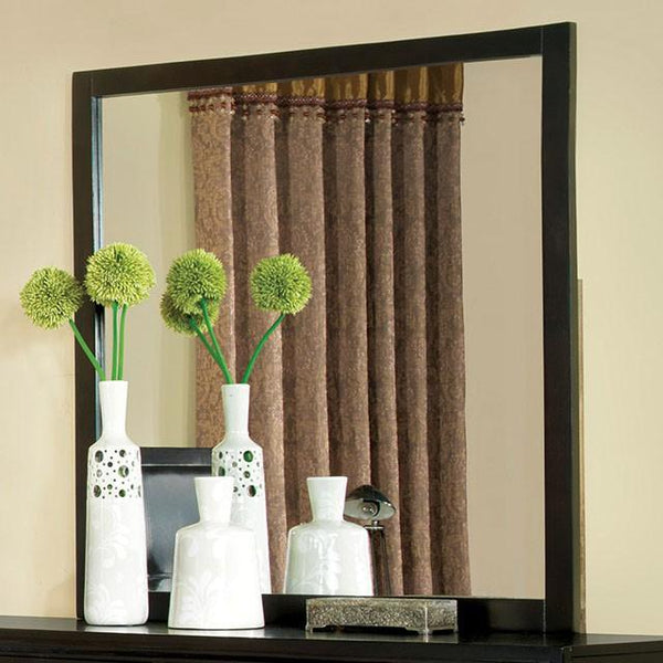 BM168971 Mirror With Wooden Frame, Espresso Brown