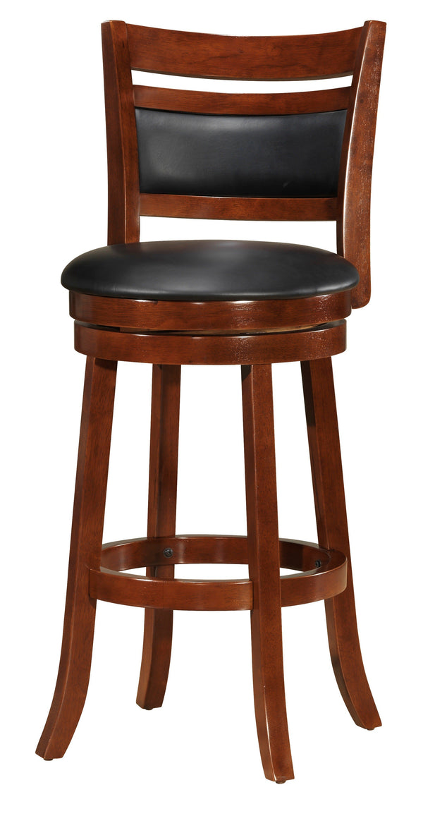 BM170296 24-Inch Counter Height Swivel Barstool, Brown