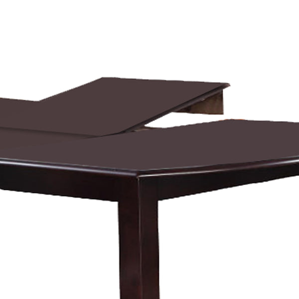 Rectangular Wooden Dining Table with Butterfly Leaf and Tapered Legs, Brown - BM171275